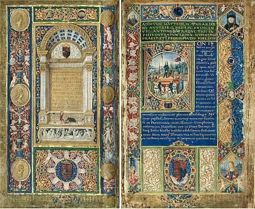 A Bibliotheca Corviniana egyik példánya, a Philostratos-kódex