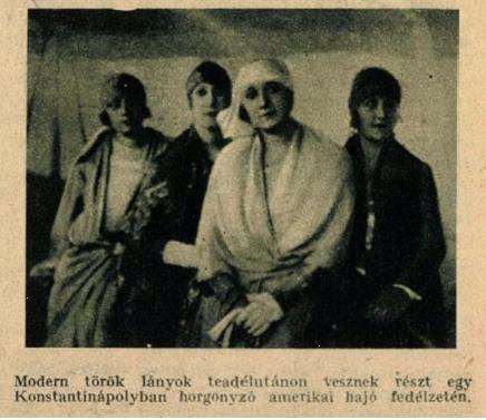 Modern török lányok a Tolnai Világlapja 1926. május 12-i számában
