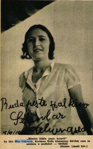 Keriman Halis üdvözlete a budapestieknek a Színházi Élet 1932/43. számában