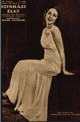 A Színházi Élet 1932/33. számának címlapján Keriman Halis, Miss Törökörszág és Miss Universe 1932