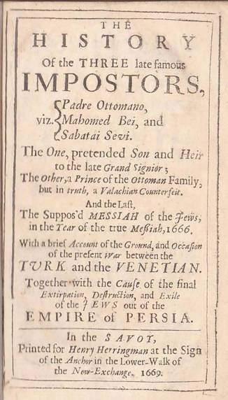 One of the publications published in 1669 where the author claims that Padre Ottomano was an impostor.